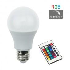 ΛΑΜΠΑ LED RGB 7.5W Ε27