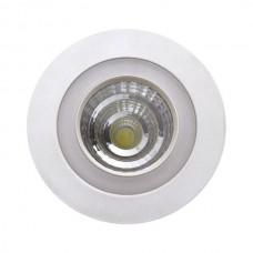ΣΤΡΟΓΓΥΛΟ ΧΩΝΕΥΤΟ LED ΟΡΟΦΗΣ SMD & COB 3+3W - 3 ΔΙΑΦΟΡΕΤΙΚΑ ΑΝΑΜΜΑΤΑ 5253