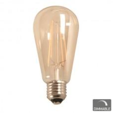 ΛΑΜΠΑ LED  FILAMENT   Ε27 ST64 7W 230V DIMMABLE 2200Κ