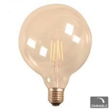 ΛΑΜΠΑ LED  FILAMENT   Ε27 G95 7W 230V DIMMABLE 2200Κ