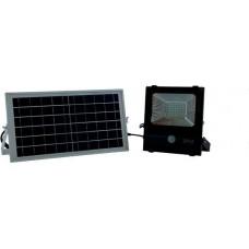 Ηλιακός Solar Προβολέας 30W με Φωτοβολταϊκό Πάνελ και Aνίχνευση κίνησης, IP 65