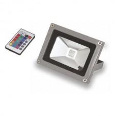 RGB LED ΠΡΟΒΟΛΕΑΣ 10W ΑΔΙΑΒΡΟΧΟΣ ΜΕ ΤΗΛΕΧΕΙΡΙΣΜΟ IP65
